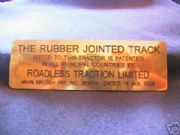 Roadless Traction Brass Plate Bristol Crawler Tractor